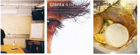 Omslag till föregående nummer av Glänta